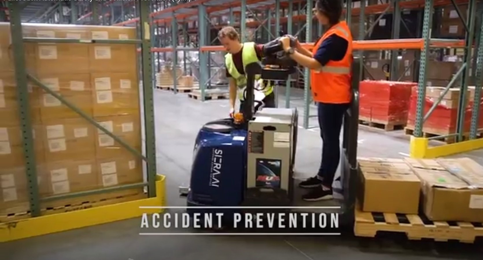 SIERA.AI's S3 means forklift accident prevention