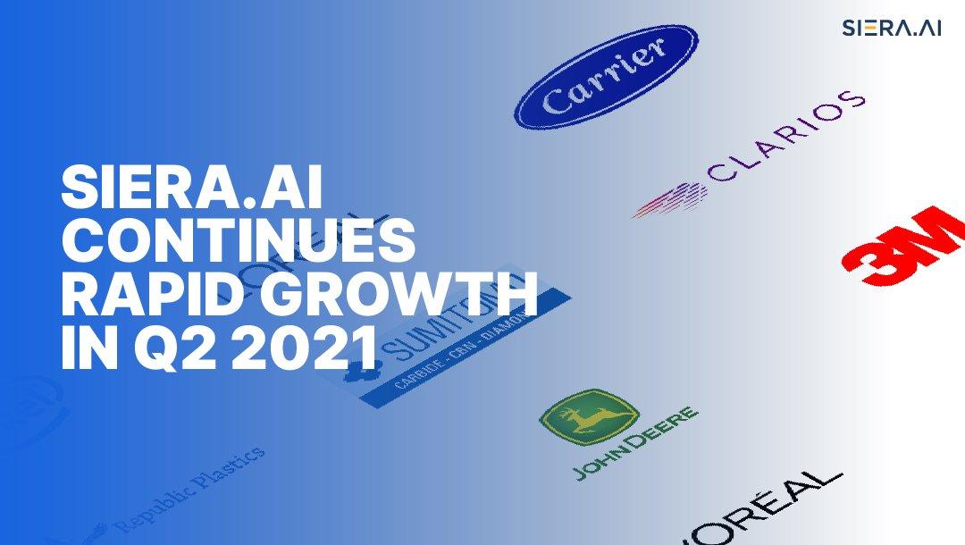 SIERA.AI continues rapid growth in Q2 2021